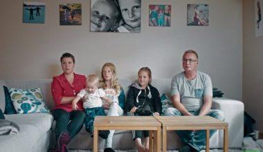 Familia sueca antes de consumir alimentos orgánicos