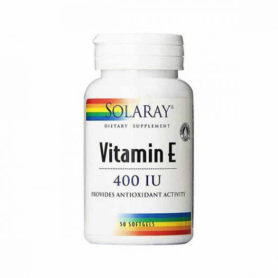 Vitamina E solaray 50 capsulas blandas