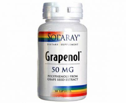 Grapenol antioxidante Solaray 30 cap.