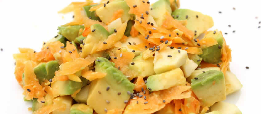 Ensalada vegana ahuyama raw