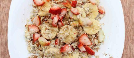 Desayuno raw con almendras