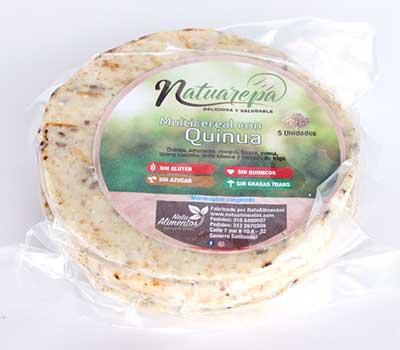 Arepas de maiz multicereal con quinua