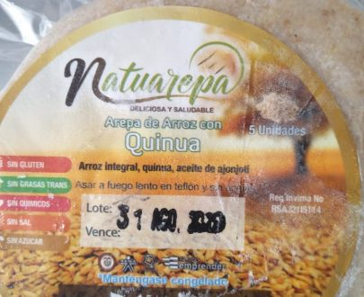 arepas de arroz veganas
