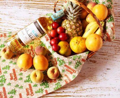 Ancheta de frutas navideña