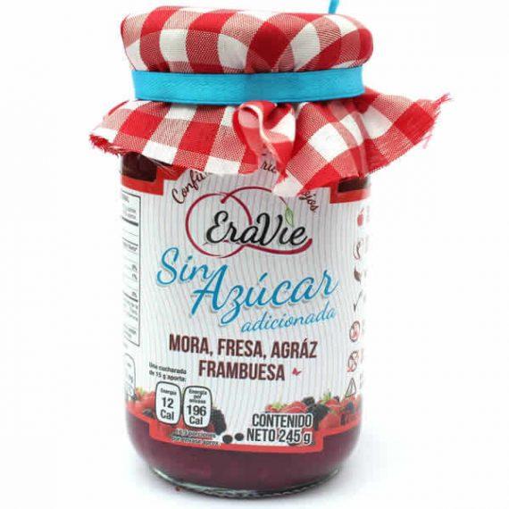 Mermelada sin azucar Eravie frutos rojos